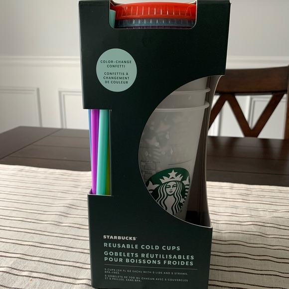 Starbucks color changing confetti NEW summer 2021